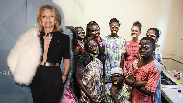 Carla Zampatti and some of The Social Outfit's designs