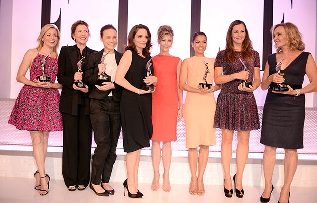 Actresses Elizabeth Banks, Annette Bening, Tina Fey and Jessica Lange were also among those honoured.