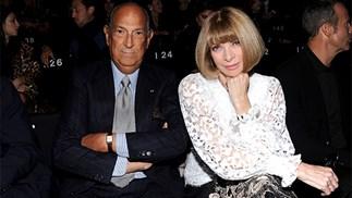 Oscar de la Renta and Anna Wintour in 2013.