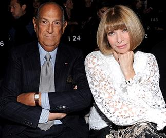 Oscar de la Renta and Anna Wintour in 2013.