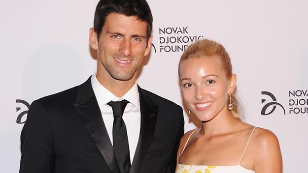 Novak Djokovic and his wife Jelena in 2013.