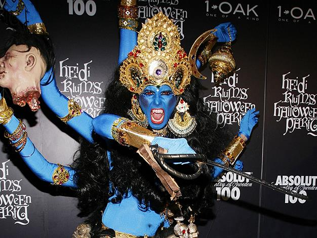 Heidi Klum always goes above and beyond in the costume department. Here the supermodel is as a Hindu goddess.