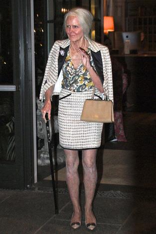 Heidi Klum also transformed into a wrinkled old lady for this freaky look into the future.