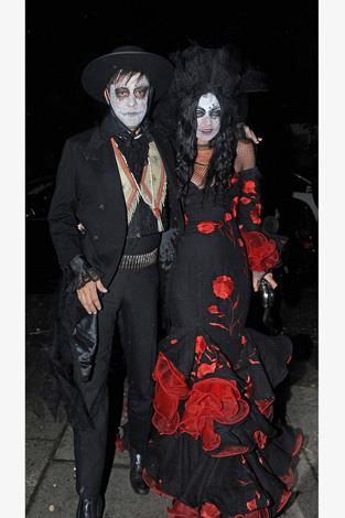 Kate Moss and her husband Jamie Hince channelled the Spanish undead for a Halloween party in London.