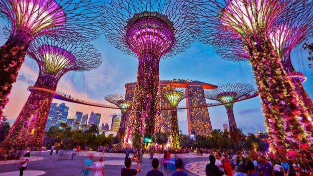 Singapore's metal trees