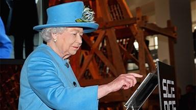 Modern monarch: Queen Elizabeth sends her first tweet