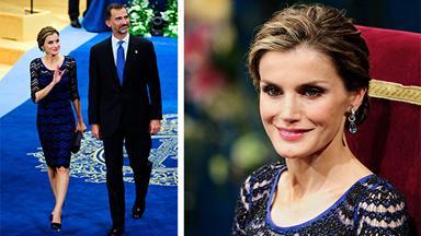 Queen Letizia dazzles in blue at awards night