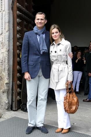 Prince Felipe of Spain and Princess Letizia of Spain celebrate their 10th wedding anniversary. The casual style of the Princess has been well-received by style commentators around the world.