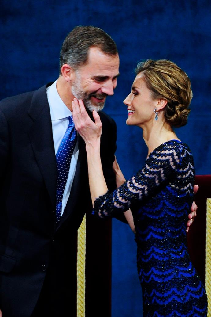 The King and Queen of Spain looked loved-up at the awards ceremony.