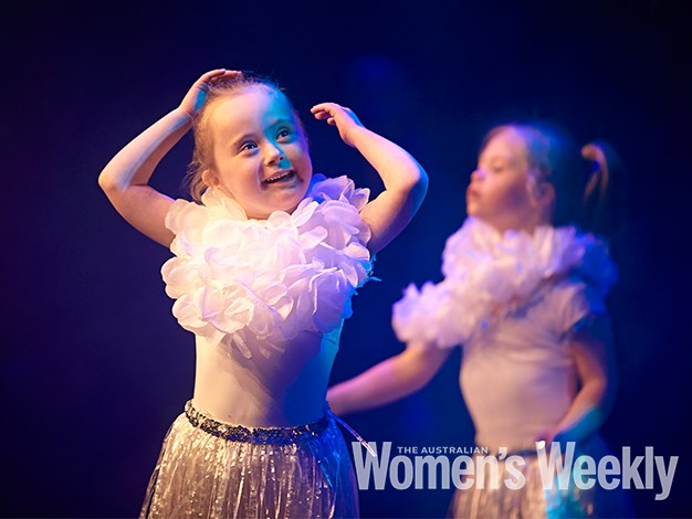Matilda, 6, looked happy to be a part of the performance.