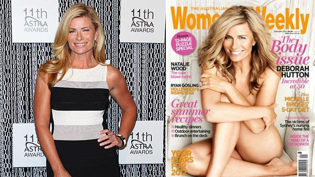 Deborah last year and (right) on the cover of The Weekly's January 2012 issue.