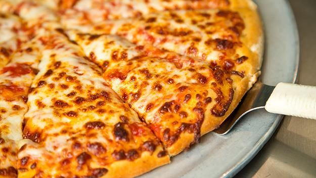 A woman reports domestic abuse by pretending to order a pizza.