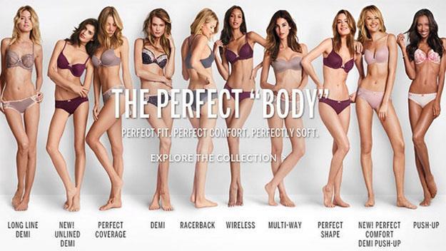 Victoria's Secret The Perfect Body campaign. The controversial advertisement. Picture: Victoria's Secret