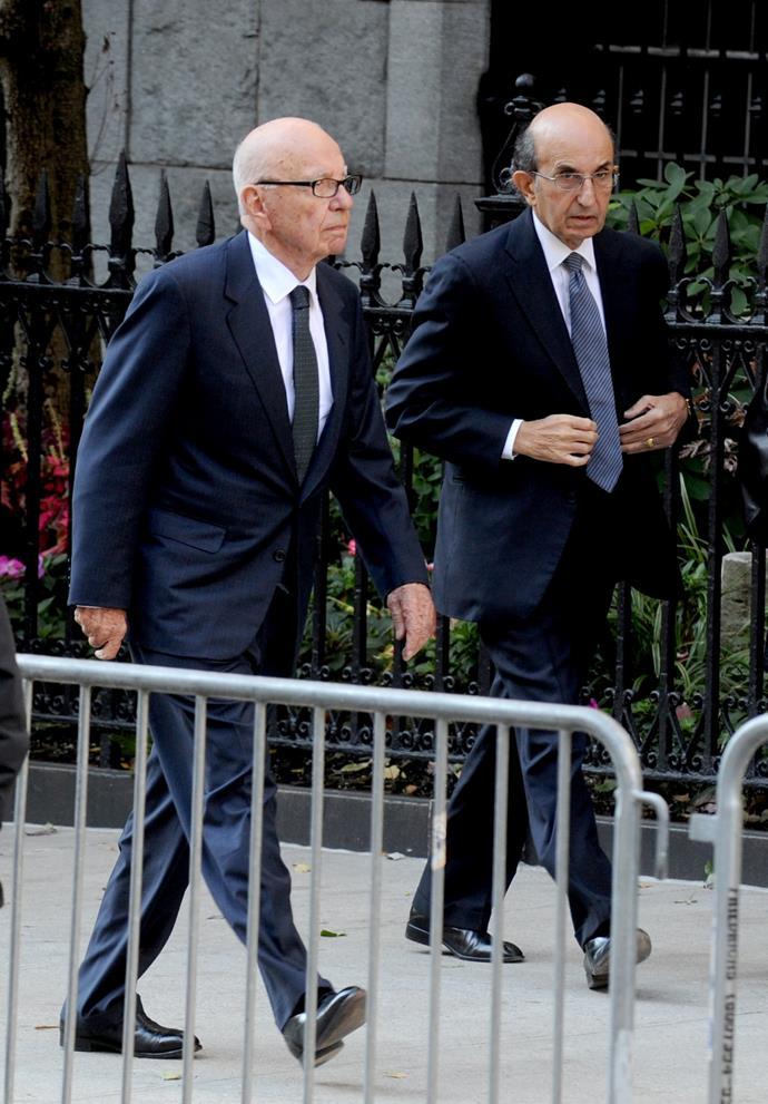 Rupert Murdoch and Joel Klein. Picture: Dennis Van Tine/ABACAUSA.COM