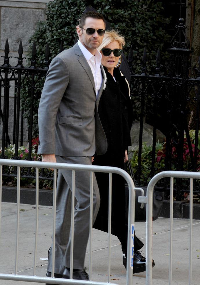 Hugh Jackman and Deborra-Lee Furness. Picture: Dennis Van Tine/ABACAUSA.COM