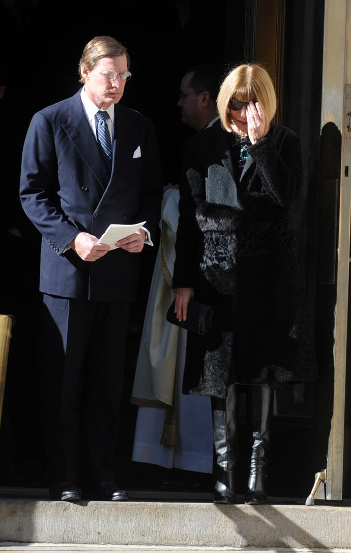 Anna Wintour at the funeral service of her friend. Picture: Dennis Van Tine/ABACAUSA.COM