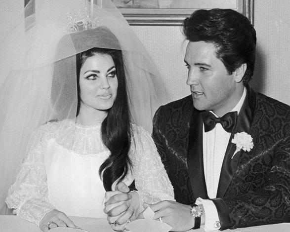 Priscilla Presley was the youthful bride to Elvis Presley in a 1967 ceremony.
