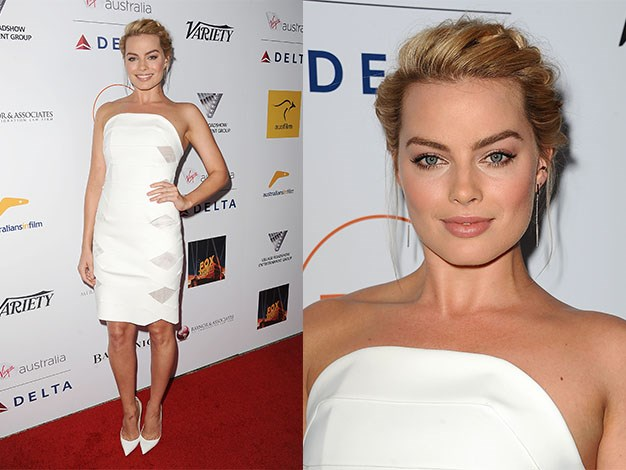 The actress looked stunning in white at the 3rd annual Australians in Film Awards benefit gala at Fairmont Miramar Hotel on October 26, 2014 in Santa Monica, California.