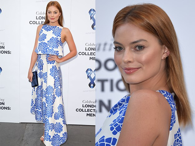 Margot Robbie at the One For The Boys charity ball in London.