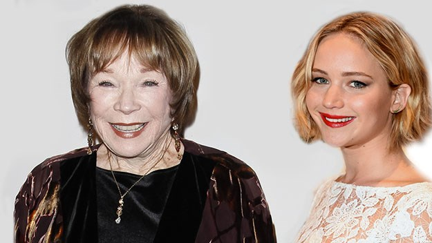 Shirley MacLaine and Jennifer Lawrence.