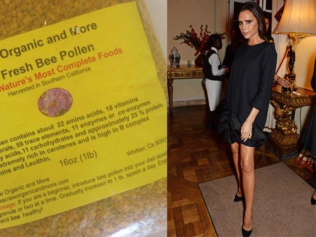 """Totally obsessed with this Bee pollen!"" Tweeted Victoria. ""So good for u!! X vb""."
