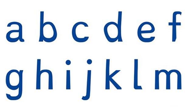 Dyslexie Regular typeface. PHOTO: Dyslexie Font website.