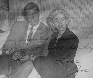 Marilyn Monroe and Joe DiMaggio 1954.