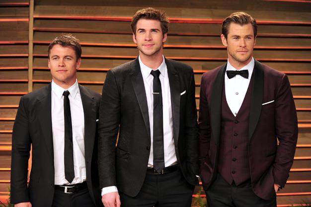 The Holy Trinity of Hemsworth brothers: Luke Hemsworth, Liam Hemsworth, Chris Hemsworth.