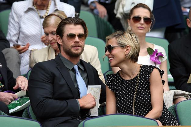 And he's a refined gentleman! Here Chris is with wife Elsa at Wimbledon in July.