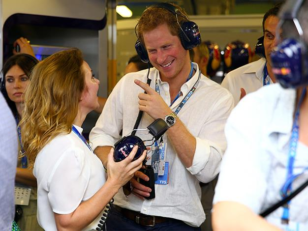 Prince Harry has a laugh with Geri Halliwell.