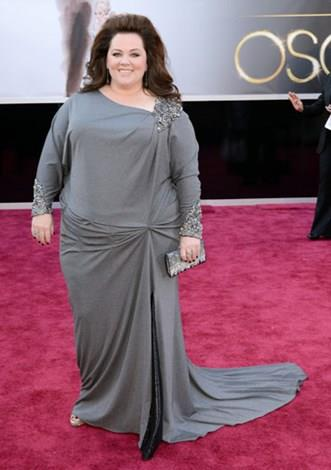 Melissa McCarthy in David Meister at the 2013 Academy Awards.