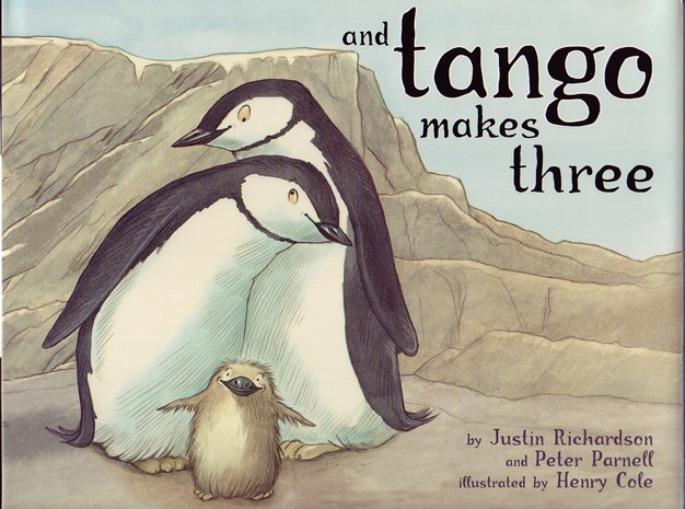 **And Tango Makes Three (2005)** And Tango Makes Three created a whole lot of hullabaloo when it was first released in 2005. The book tells the touching true tale of two male penguins, Roy and Silo who lived in Central Park Zoo and liked to do everything together – including build a nest. But when the pair of tuxedo clad males failed to fill that nest with an egg a zookeeper intervened and gave them an egg that needed care – that is how Tango was born. Roy and Silo doted on Tango and she became the first penguin chick lucky enough to have two daddies. Despite the happily ever after ending many challenged the book for its homosexual themes, age appropriateness and central motif about what really makes a family. While celebrated by liberal groups worldwide Tango Makes Three has made the American Library Associations 'most challenged' list between 2006 and 2012.