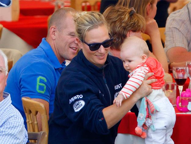 Mike Tindall and Zara Phillips at the Festival of British Eventing at Gatcombe Park.