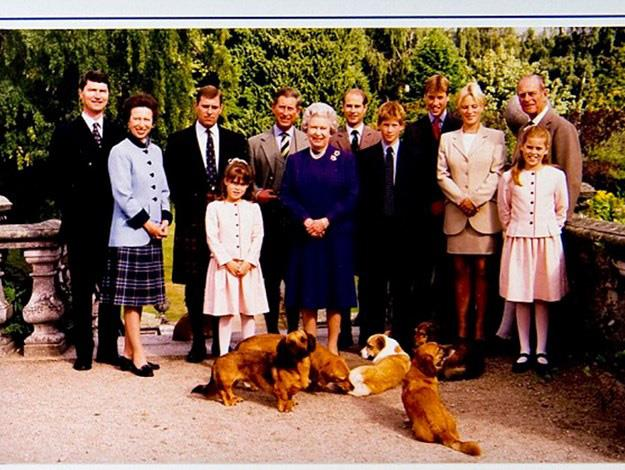 United: The royal family's first card after Diana's death.