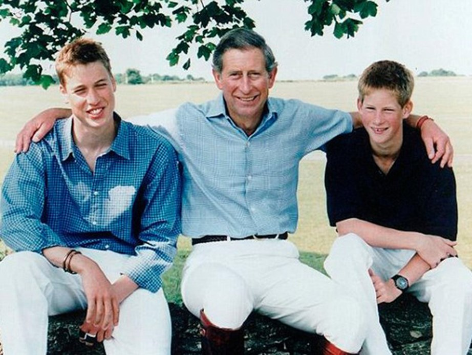 Growing boys: Prince Charles with Prince William and Prince Harry in 1999.