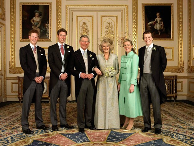Charles and Camilla used a photo from their wedding day on their 2005 card.