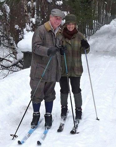Prince Charles and Camilla's 2010 Christmas card is apres fun!