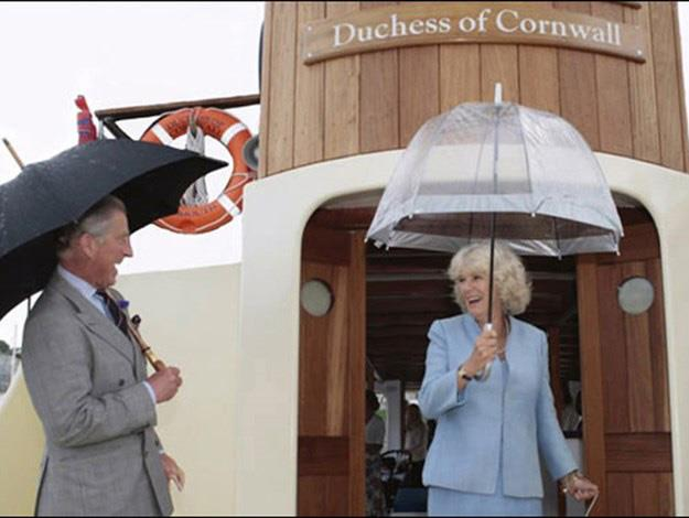 Prince Charles and Camilla chose a very casual image for their 2008 card.