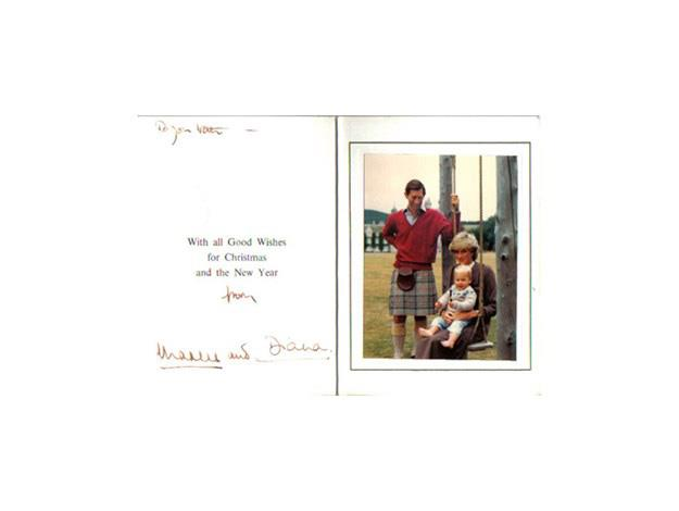 Prince Charles and Princess Diana's 1983 Christmas card with Prince William as a toddler.