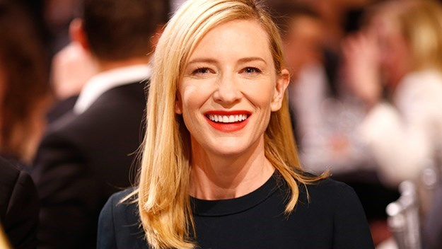 "Cate Blanchett: When a camera panned her up and down at the SAG awards she asked, ""Do you do this to the guys?"" No, no they don't."