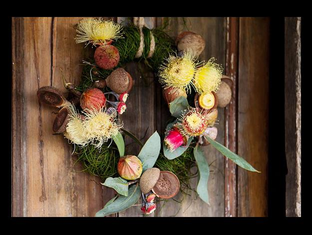 Tie the rope or twine at the top of the wreath to hang on your door.