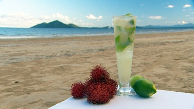 [Rambutan and lime cocktail.](http://www.aww.com.au/food/recipes/2008/4/rambutan-lime-cocktail) <br><br> A vacation-worthy cocktail if we ever saw one.