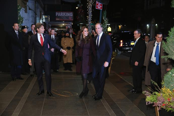 The royal couple arriving at their Manhattan hotel.