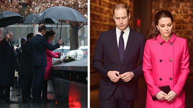 Prince William and Kate Middleton visit 9/11 memorial in New York