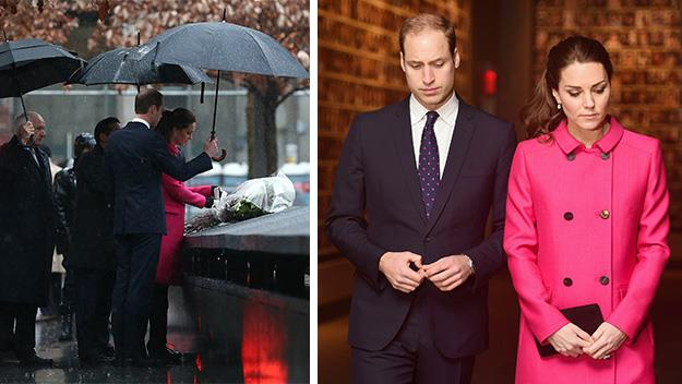 Kate Middleton and Prince William visit 9/11 memorial