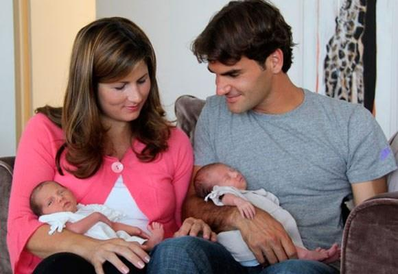 Roger and Mirka with their twin girls.