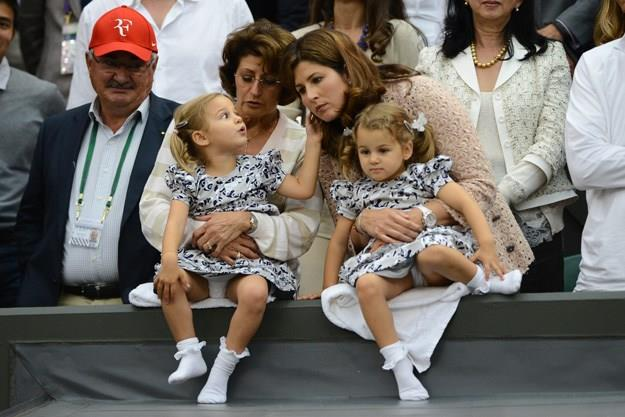 Mirka with the twins.