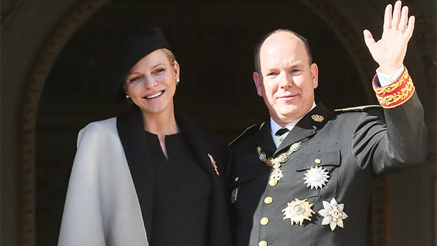 Princess Charlene and Prince Albert.