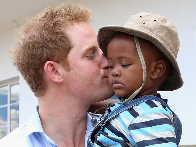 Prince Harry was moved by the positivity of the children that he met on his trip.