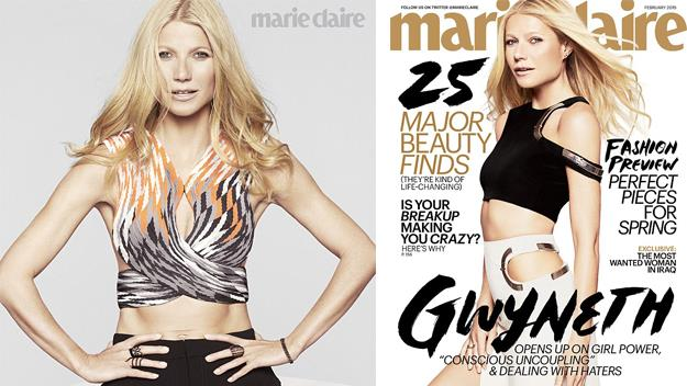 Gwyneth Paltrow in the February issue of Marie Clair